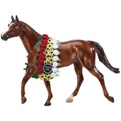 Handsome Justify Triple Crown Winner 2018 from Breyer is the Traditional size model with stunning garland to commemorate this special horse's achievement. Breyer's Justify Triple Crown Winner 2018 portrait model reflects the confidence and athleticism of The Belmont Stakes, Bryer Horses, Triple Crown Winners, American Pharoah, Racehorse, Horse Sculpture, Horse Breeds, Thoroughbred, Figurine