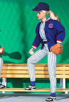Chicago Cubs Barbie Doll. WHY did I not have this when I was a kid?