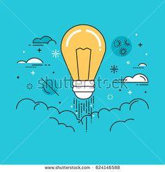 stock-vector-line-flat-design-vector-illustration-of-light-bulb-in-space-concept-for-creativity-imagination-624146588.jpg (450×470)