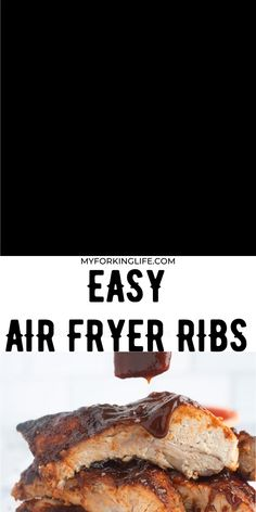 Salmon Recipes Discover Air Fryer BBQ Ribs These tender and saucy bbq ribs come out perfect when cooked in the air fryer. Make air fryer ribs in less than 40 minutes. Its perfect for any weeknight meal. Air Fryer Recipes Ribs, Air Fryer Recipes Videos, Air Frier Recipes, Air Fryer Dinner Recipes, Pork Rib Recipes, Salmon Recipes, Smoker Recipes, Recipe Videos, Bbq Ribs