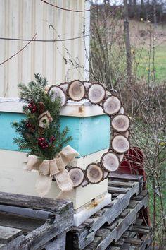 Wood Sliced Wreath