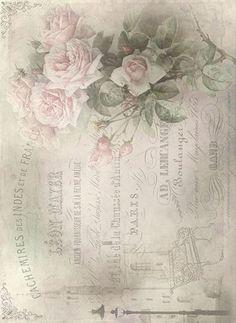 Ryžový papier Ruže, A4