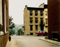 Stephen Shore · Church Street and Second Street, Easton Pennsylvania · Uncommon Places Stephen Shore, Color Photography, Street Photography, Landscape Photography, Rainbow Photography, Architectural Photography, Modern Photography, Photography Magazine, Vintage Photography