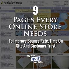 9 Pages Every Online Store Needs To Improve Bounce Rate, Time On Site And Customer Trust