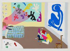 Peter McDonald Matisse Cut Outs Collage, 2010 acrylic gouache on paper, 20.7 x 29.7 cm