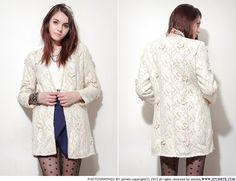 Fur Lining Luxe Lace Coat // Storets.com
