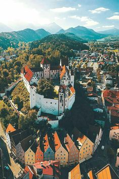 """""""Hohes Schloss in Füssen in Bavaria is one of the best preserved late gothic castles that managed to survive till now. The castle was built…"""" Black Forest Mountains, Gothic Castle, High Castle, Germany Photography, Pilgrimage, Germany Travel, Bavaria, City Photo, Beautiful Places"""