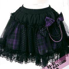 356b7bc4d298e Black Purple Gothic Lolita Plaid Polka Dot Tutu Mini Skirts Women  SKU-11406093 Punk Outfits