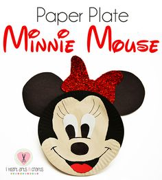 Paper Plate Minnie Mouse Kids Craft