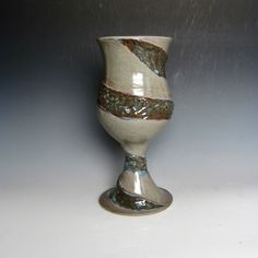 New handmade ceramic wine goblet available at JessStarkArt on Etsy