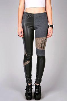 Collage Texture Leggings