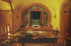 Bag End window Middle Earth, Oversized Mirror, Hobbit, Ceilings, Floors, Stairs, Ceiling, Flats, Ladder