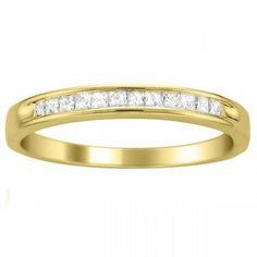 Princess Cut Engagement Rings Yellow Gold 19