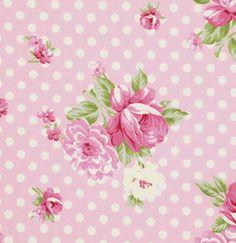 Tanya Whelan Fabric Roses and Mums Pink Rosey by chitchatfabrics