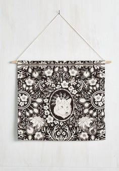 Howl in the Family Wall Hanging. Theres always a sweet one, a sassy one, and an altogether wild one in the group, and you rep all three with this black and white banner! #black #modcloth