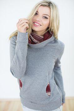 Sweatshirts - Pullover London grau Norweger - ein Designerstück von Shoko bei DaWanda