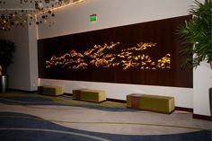 Vdara City Center, Las Vegas, NV   Custom Pattern, backlit panel