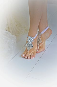 free shipped Rhinestone anklet Beach wedding barefoot by newgloves MY FAV Nude Sandals, Bare Foot Sandals, Anklet, Barefoot, Dream Wedding, Gloves, Beach, Free, Fashion