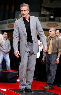 About clooney on pinterest george clooney grey suits and blue suits