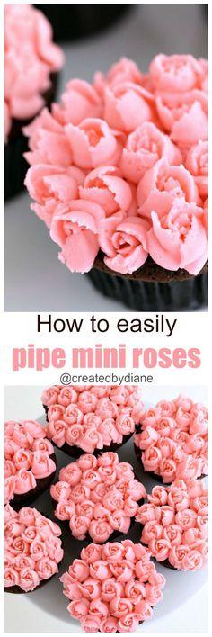 How to easily pipe mini roses /createdbydiane/