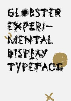Globster Typeface on Typography Served