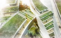 Green-Roofed Office Complex by JDS Architects (Istanbul, Turquia)