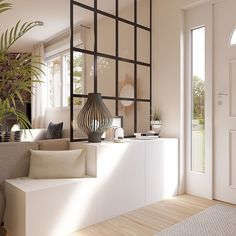 A clever entry that was created with a canopy . - # Created # Entry - James - home - Deco Home Home Interior, Interior Design Living Room, Living Room Designs, Living Room Decor, Home Entrance Decor, House Entrance, Entryway Decor, Entrance Ideas, Interior Design Minimalist
