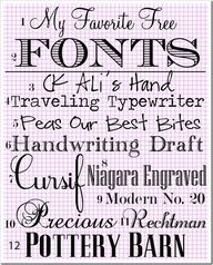 My-Favotie-Fonts...
