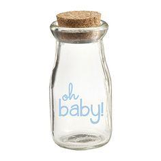 Kate Aspen Oh Baby Vintage Milk Favor Jar, Blue Pad Print, 12 Piece Kateaspen http://www.amazon.com/dp/B00V908W7I/ref=cm_sw_r_pi_dp_iS0Dvb1HQQYQ6