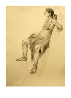 Women on chair #chair #girl #pencil #women #pencildrawing #academic #art