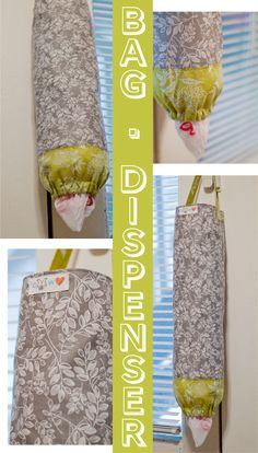 diy plastic grocery bag dispenser by cold hands warm heart. Would prefer neutral colors/pattern Diy Bag Dispenser, Grocery Bag Dispenser, Plastic Bag Dispenser, Plastic Bag Holders, Plastic Bags, Sewing Hacks, Sewing Crafts, Sewing Projects, Diy Projects