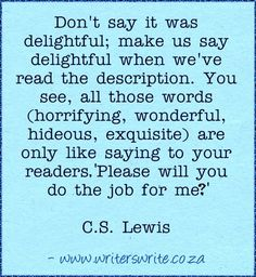 C.S.Lewis quote on writing