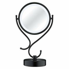 lighted tabletop mirror, 8x magnification, pleasing design