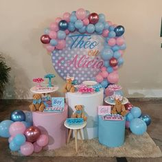 Pregnancy Gender Reveal, Baby Gender, Baby Shower Roses, Baby Shower Themes, Baby Shower Garcon, Twin Birthday Cakes, Unisex Baby Shower, Reveal Parties, Shower Cakes