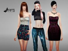 MFS Sequin Collection by MissFortune at TSR via Sims 4 Updates