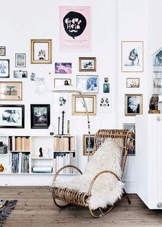 The home of Karen Maj Kornum from Another Ballroom - Nordic Design Inspiration Wall, Interior Inspiration, Decorating Your Home, Interior Decorating, Sweet Home, Style Deco, Scandinavian Interior Design, Nordic Design, Nordic Style