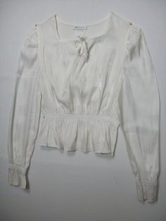 BONNIE JEAN GIRLS SIZE 14 WHITE TOP POLYESTER RAYON LONG SLEEVE DRESSY HOLIDAY #BONNIEJEAN #Dressy