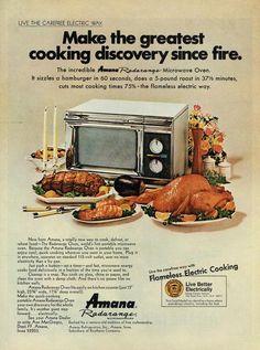 Vintage 1969 Amana Radarange Print-Ad