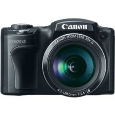 Canon PowerShot SX500 IS 16.0 MP Digital Camera with 30x Wide-Angle Optical Image Stabilized Zoom and 3.0-Inch LCD (Black)      16 effective megapixel, 1/2.3-inch CCD sensor     3-inch TFT color LCD with wide viewing angle     DIGIC 4 image processor     720p HD video in stereo sound with a dedicated movie button     24mm wide-angle lens with powerful 30x optical zoom and optical image stabilizer