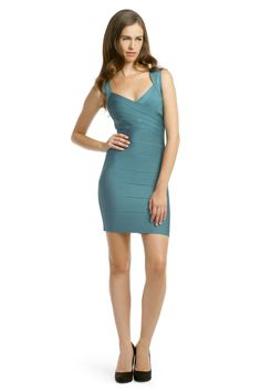 Aqua Adventure Dress  By Herve Leger  Retail $1050, Rent for $100