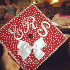 Monogram college graduation cap