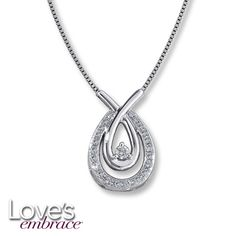 Loves Embrace® Sterling Silver 1/5 Ct. t.w. Diamond Necklace