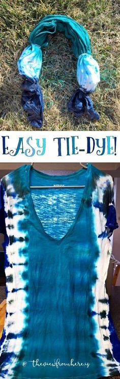 DIY: Easy Tie-Dye || http://theviewfromhere.is