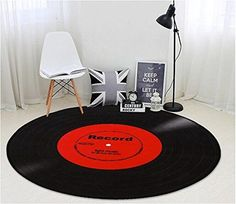 Funky Rugs for a Music Room - Various designs and styles Retro Music Record Area Rug Study Bedroom Non-slip Mat Soft and Absorbent Bath Mat Tapis Funky, Funky Rugs, Music Themed Rooms, Best Bathroom Scale, Thing 1, Music Decor, Retro Home, Bedroom Themes, Rugs In Living Room
