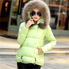 46.98$  Watch now - http://alimvf.shopchina.info/go.php?t=32800159341 - 2017 women winter wadded jacket large fur collar coat cotton-padded thick warm loose casual jacket plus size free shipping  #buyininternet