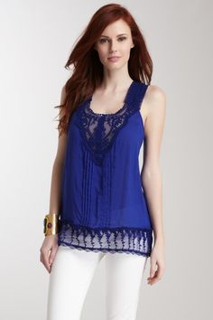 Crochet Lace Blouse by Simply Irresistible on @HauteLook