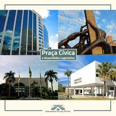 O Umuarama Plaza Hotel possui uma localização privilegiada. Ele fica no centro da cidade, próximo ao poder executivo, a Praça Cívica (5min.) e da Assembléia Legislativa (4min.). O planejamento urbano da capital em grandes avenidas, facilita o escoamento de carros, tornando fácil a locomoção entre um ponto e outro da cidade. #Goiania