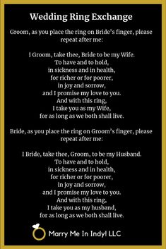 Secular,Wedding Ring Exchange Scripts and PDF's - WEDDING CEREMONY PRO Best Picture For elegant wedding ceremony decorations For Your Taste You are looking for something, and it is going to tell you e