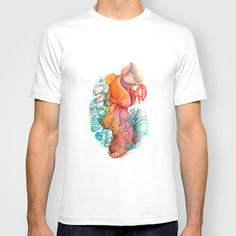 The Gold Fish III T-shirt by FlowerFairyArt - $22.00