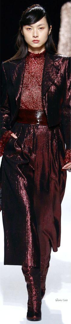 maroon, metallic fashion couture.
